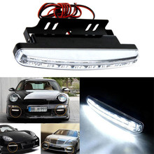 Dependable 8LED Daytime Driving Running Light DRL Car Fog Lamp Waterproof White DC 12V Ma 21