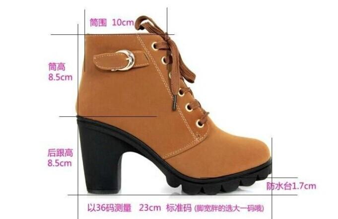 новые насосы женщин, европейские кожаные сапоги леди высокой пятки сапоги мода мотоцикл, насосы, Обувь женская