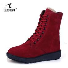 ZOCN Rebaño Zapatos de Las Mujeres 2017 Calientes de La Venta Caliente Otoño Invierno botas de Nieve de Las Mujeres Botas Botines Cálido Invierno Bottes Femmes(China (Mainland))