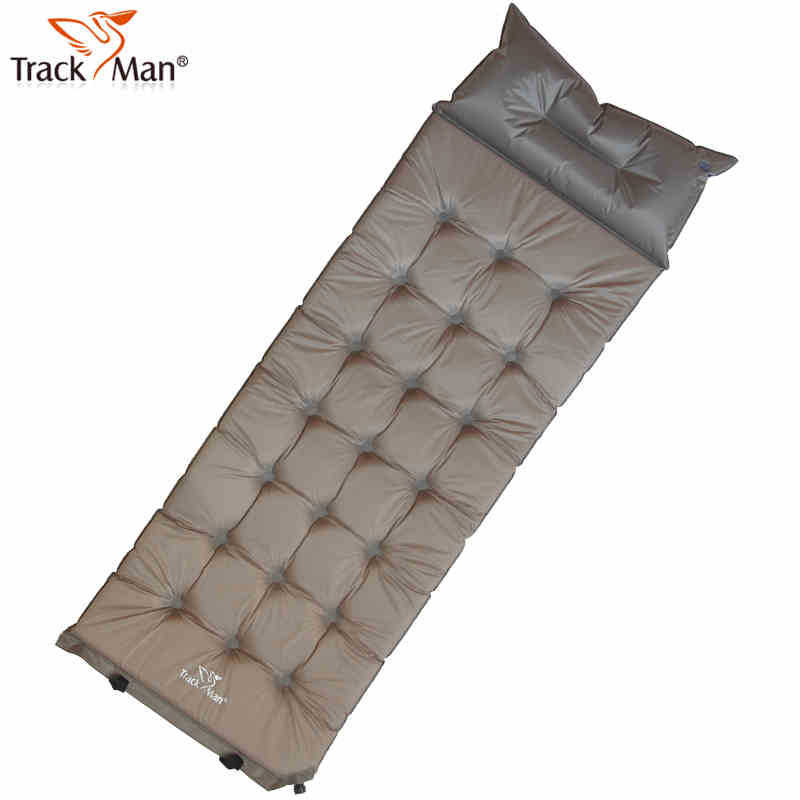 Outdoor Single Blow Automatically Air Aushion Bed Widen Thicken Camping Airpillow Inflatable Dampproof Mat Pad W/ Pillow - TUYUE Trade Co., LTD. store