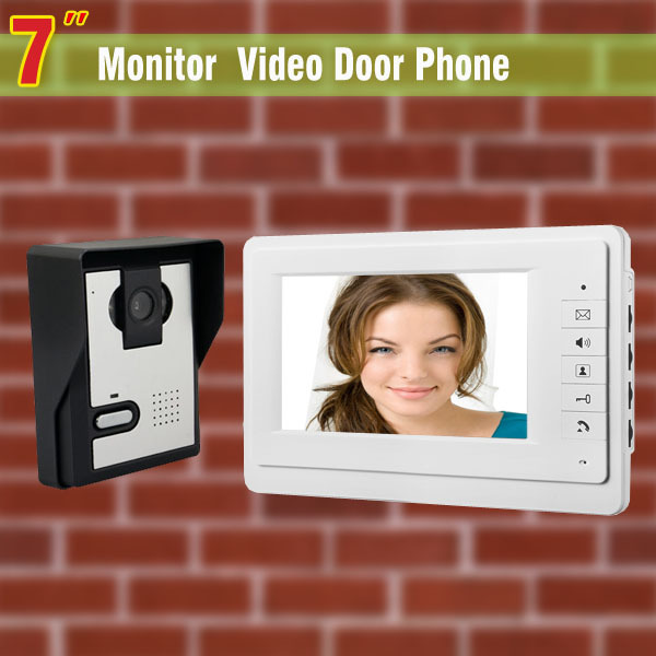 Special Offer 7 Inch Monitor Video Door Phone Intercom Doorbell Camera Video Intercom Home Door wired video intercom system(China (Mainland))