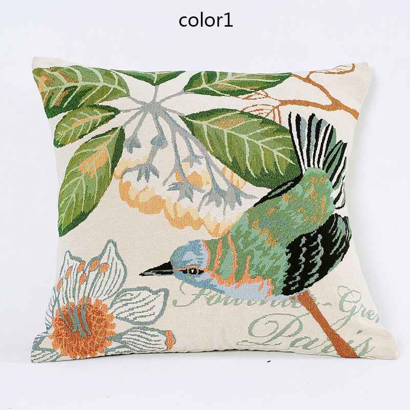 Traditional Chinese Pillow : 2015 Jacquard Animals and Flowers Accent Decorative Pillow Case Vintage Cushion Cover ...