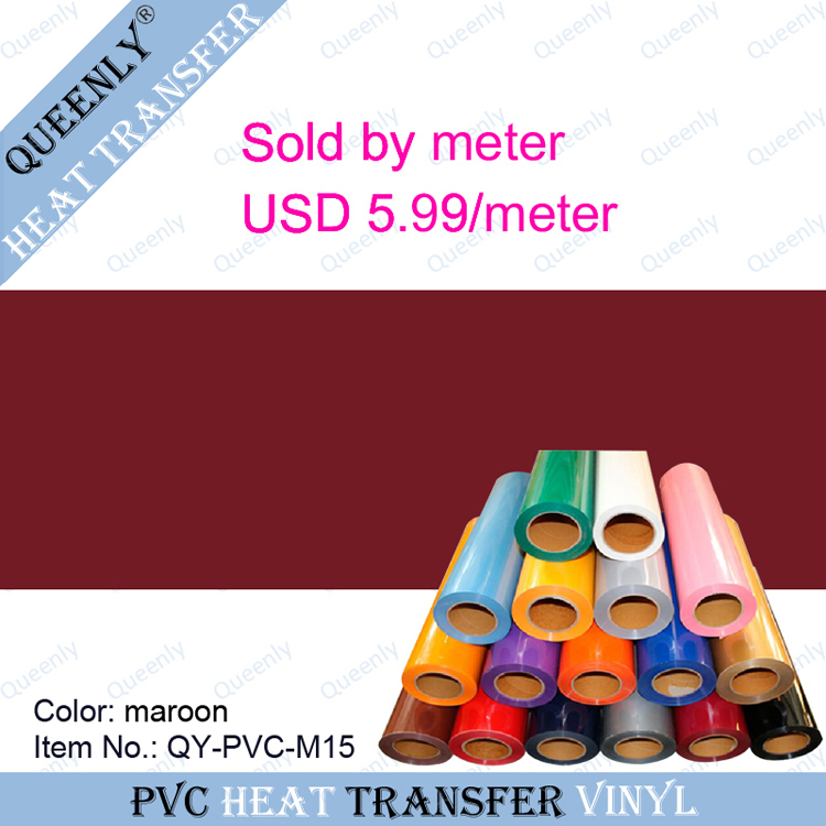 Heat transfer material Flex PVC Transfer Film sold by meter 5 meters/pack width 50cm(China (Mainland))
