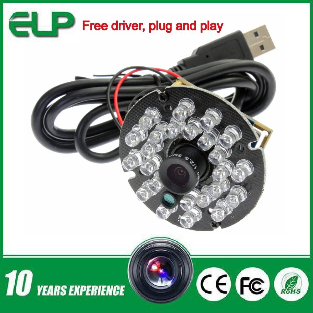 1mp 3.6mm lens CMOS OV9712 free driver ir 20m infrared night vision usb webcam hd 720P with mic microphone, IR cut support(China (Mainland))