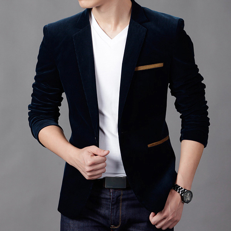 2015 new stylish mens slim fit blazer suit casual blazer