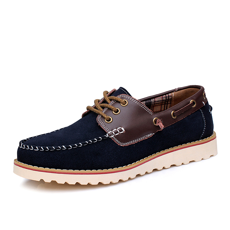 2015 New Design Sperry Shoes Men Casual Flats Fashion Spiked Boat Shoes Suede Leather Mens Autumn Sapatos Gommini Espadrilles(China (Mainland))