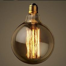 Vintage Vetro Tungsten Filament E27 Globe Edison Light Bulb Lamp Incandescent Replacement 60W 220V G125(China (Mainland))