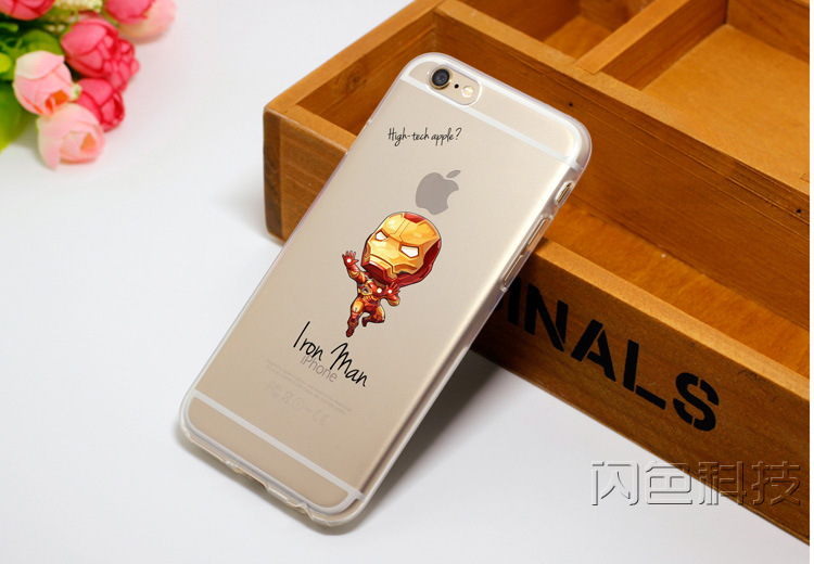 TPU Cell Phone Case Funda Marvel the Avengers Superheroes Iron Man Cover/Cases For Apple iPhone 5s 6 6s 6Plus Phone Case Shell