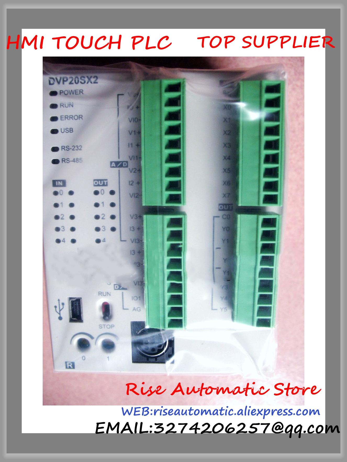 DVP20SX211R New Original DC24V PLC 8DI 4AI 6DO 2AO relay