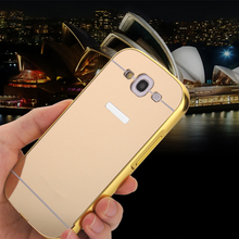 S3 Luxury  Aluminum Metal + Acrylic Mirror Battery Back Cover Case for samsung Galaxy S3 i9300 Plating Surface Phone bags(China (Mainland))