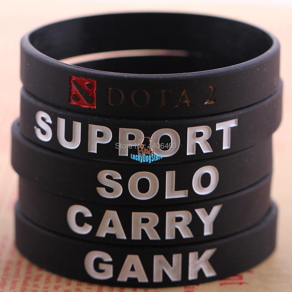 2015 silicone dota 2 dota2 bracelet cosplay game bracelets men jewelry novelty gifts 5 169  -  Lucky Dog Store store