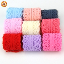Buy 10Yard/Lot, 9m New Selling Lace Ribbon Width 30MM DIY Embroidered Net Lace Trim Fabric Sewing Wedding Decoration 9 Colors for $1.00 in AliExpress store
