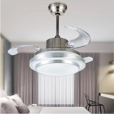 Ultra Quiet 42 Hidden Blade Ceiling Fan Lamps 110 240v 48W Variable Fre