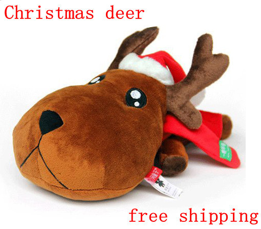 Large size  Christmas deer Bamboo charcoal car decoration home car activated carbon car decoration indoor decoration 28cm