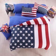 American Flag Bedding USA flag bedding British / UK Flag Bedding English Teen bedding set Fitted Sheet 3-4pcs, King/Queen/Twin(China (Mainland))