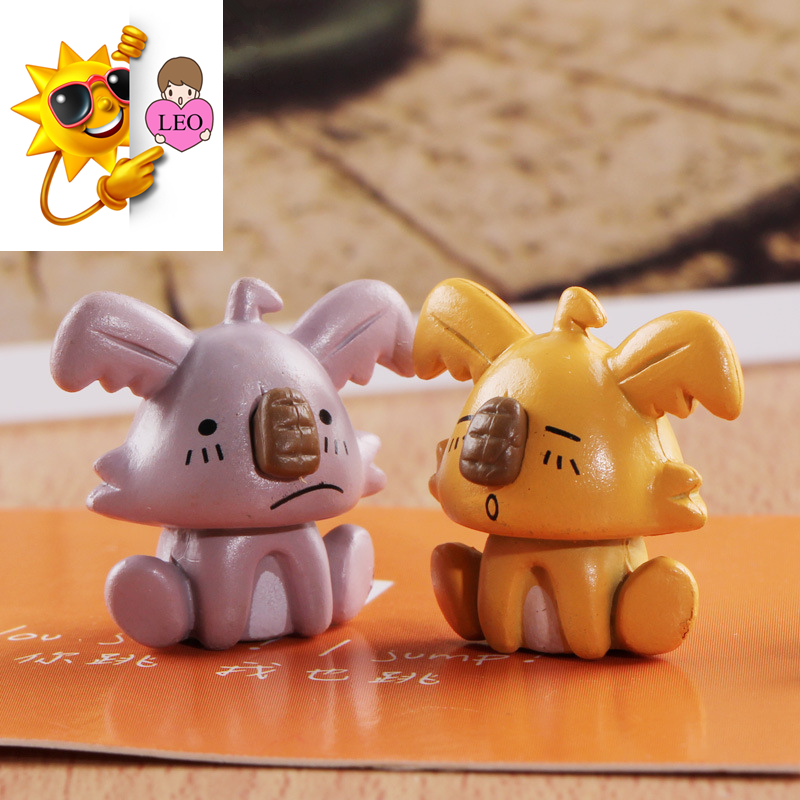 cute little dog action figure small Cartoon Animals Micro moss landscape lovely Doll miniature figurines Toys decoration PY133(China (Mainland))