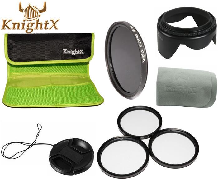 52mm Optical Neutral Density ND 1000 Lens Filter + Point Line 4X 6X 8X Cross Star Kit FOR Nikon D7100 D5300 D5200 D3300 KnightX(China (Mainland))