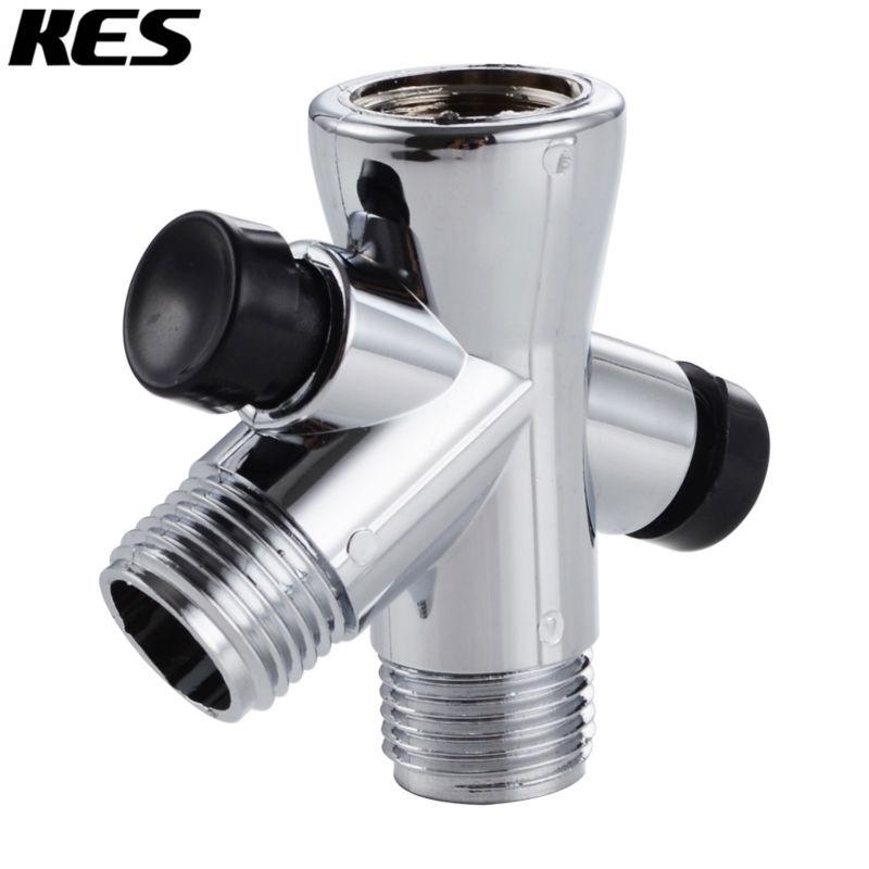 KES PV7 Handheld Shower and Shower Head Shower Arm 3-Way Diverter, Polished Chrome(China (Mainland))