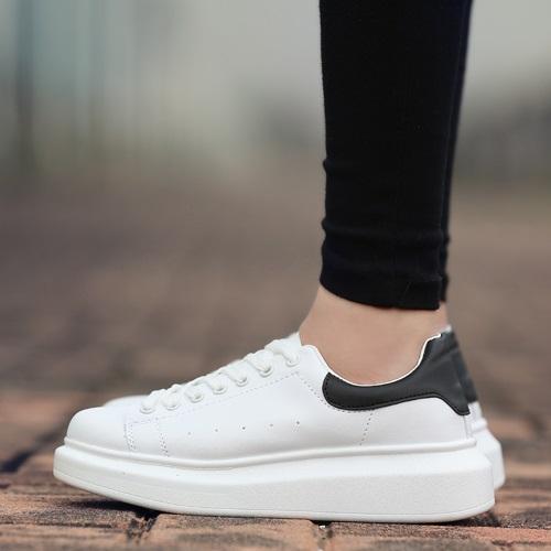 Brand Men street leather flat platform fashion sneakers women lace-up casual low top sports skate board skateboard shoe,36-44(China (Mainland))