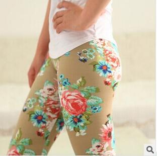 2016 new women's cotton printed graffiti leggings nine women(China (Mainland))