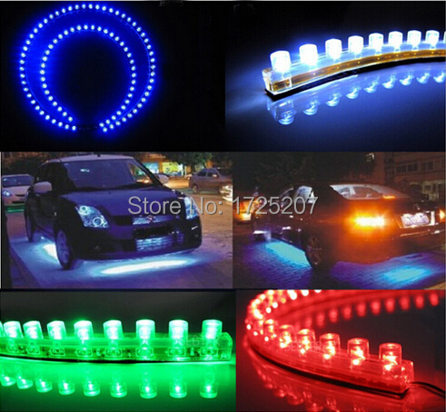Car Styling 12V 24cm car LED DRL Light Strip For Daytime Running Light motorcycle car bike decoration waterproof Free Shipping(China (Mainland))