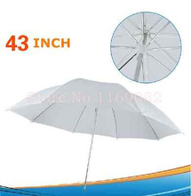 43 inch Studio Flash Translucent White Photography Light Photo Video soft Umbrella 110cm - Happiness photographic equipment technology co., LTD store