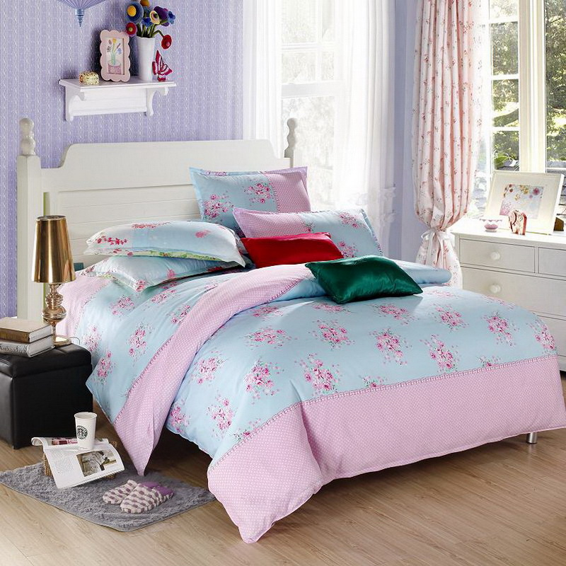 Hot sale queen full king size 4pcs bed set bedding sets bedclothes duvet cover the bed linen Queen mattress sets sale