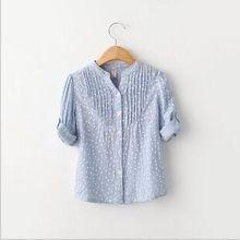 Hohe qualität 2015 Neue mädchen kleidung mädchen kleid shirts baumwolle langarm-shirt kinder mädchen shirt mädchen weiße bluse blusas ninas(China (Mainland))