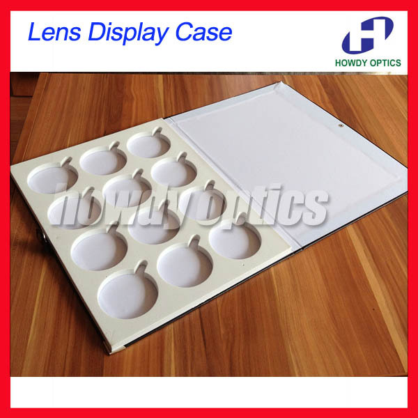 Free shipping 12L Leather holding 12pcs of lenses sample box tray  lens case display caseОдежда и ак�е��уары<br><br><br>Aliexpress