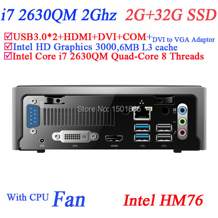 OEM quad core computer,mini linux embedded pc from china supplier with Intel Quad Core i7 2630QM 2.0Ghz 8 threads(China (Mainland))