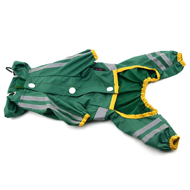 Puppy Pet Dog Raincoat Clothes Glisten Bar Hoody Waterproof Rain Jackets Apparel(China (Mainland))