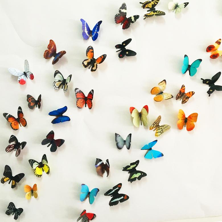 3d papillon d coration murale achetez des lots petit for Decoration murale papillon 3d