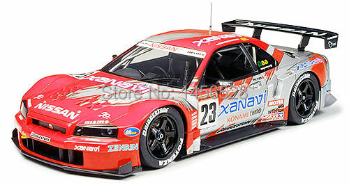TAMIYA scale model Plastic Model Series 1/24 24268 Scale Sports Car Xanavi Nismo GT-R assembly model scale car model(China (Mainland))