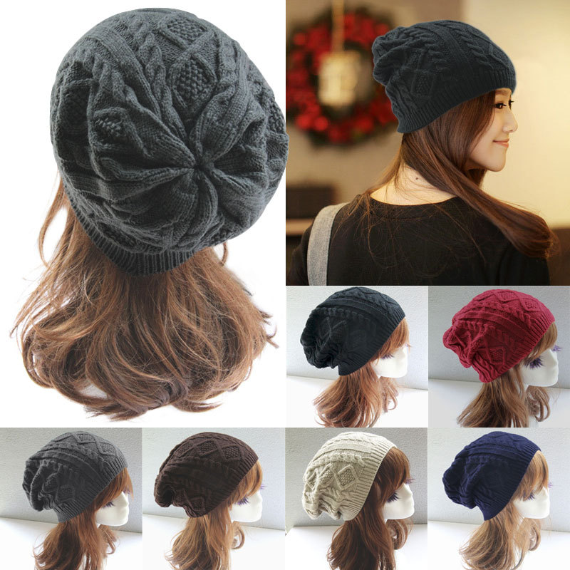 Women New Design Caps Twist Pattern Women Winter Hat Knitted Sweater Fashion Hats 6 colors Y1(China (Mainland))