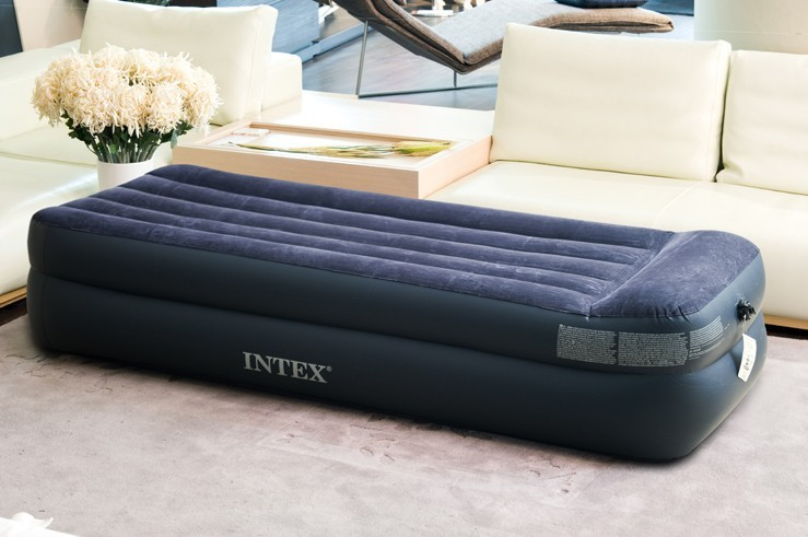 EC Free shipping Genuine EC inflatable mattress single bunk bed luxury flocking air bed mattress delivery pouch FREE SHIPPING(China (Mainland))