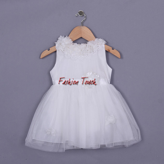 Style 2016 Girls Wear Flower Summer Cotton Vest Dresses Infant Lace Costume Little Girl GD50328-25^^FT - Fashion Touch store