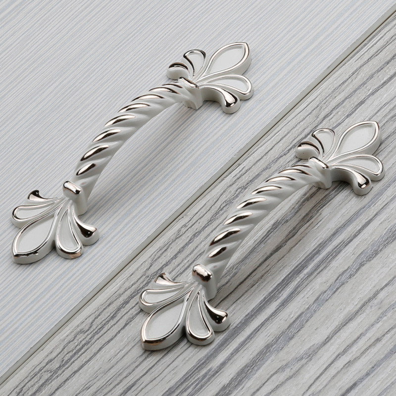 5PCS 64mm Ivory color Zinc alloy Cabinet Handles Pulls Dresser Drawer Pull Handles Furniture Wardrobe pulls Hardware<br><br>Aliexpress