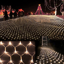 Hot 1.5M*1.5M 100 LED Waterproof Colorful Net Mesh String Light Christmas/Wedding/Party Decoration Lights Holiday Led Lighting(China (Mainland))