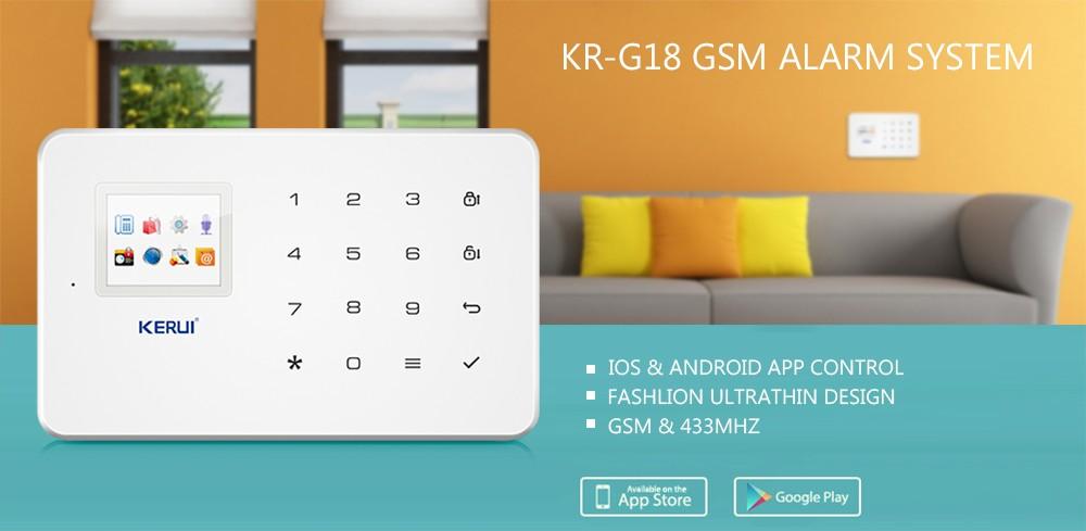 Купить App пульт дистанционного управления Беспроводной wi-fi ip-камера HD GSM sms позвонить Домой Сигнализация Умный Дом Охранная Безопасности пожарный детектор