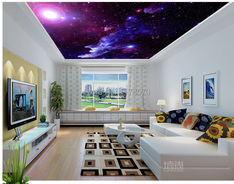 Photo Collection Galaxy Wallpaper Ceiling