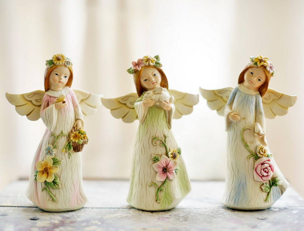 The angel with wings angel figurine decoration resin craft for Angel decoration