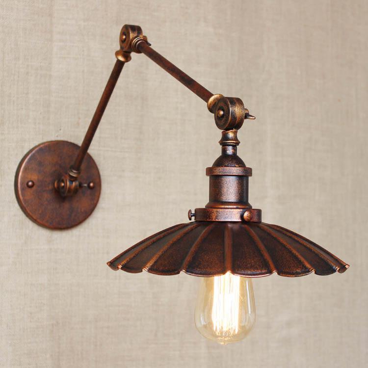 Industrial Retro Nostalgic Style Rust Color Dress Light Little Rust Umbrella Light Bedroom Wall Lamp Free Shipping<br><br>Aliexpress