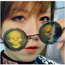 John Lennon Style Hologram Poker Eye Glasses 3D Sunglasses Novelty Funny Eyeglasses(China (Mainland))