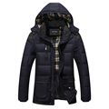 Winter Jacket Men Parka Clothing Foreign Trade Man Cotton Padded Clothes Long Hooded Young Cotton Padded