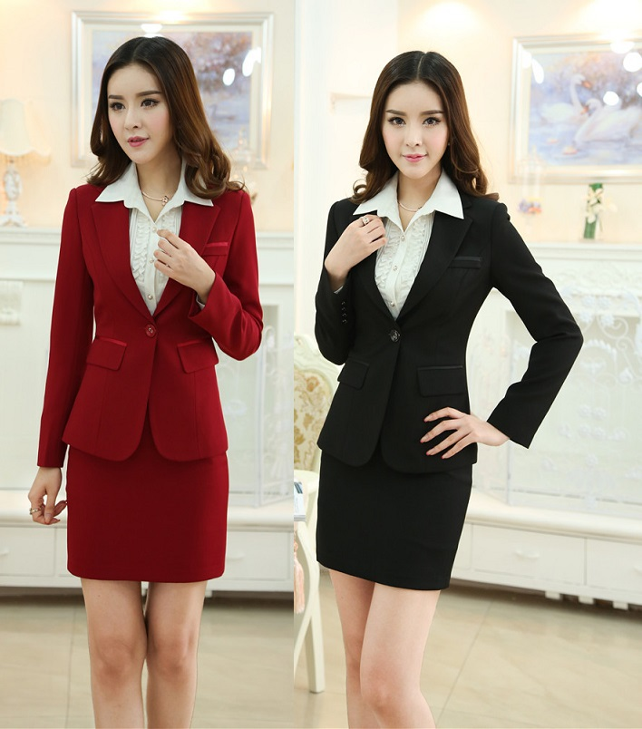 New 2014 Femininos Autumn Winter Fashion Slim Professional Business Work Wear Suit Beautician Uniforms For Office LadiesОдежда и ак�е��уары<br><br><br>Aliexpress