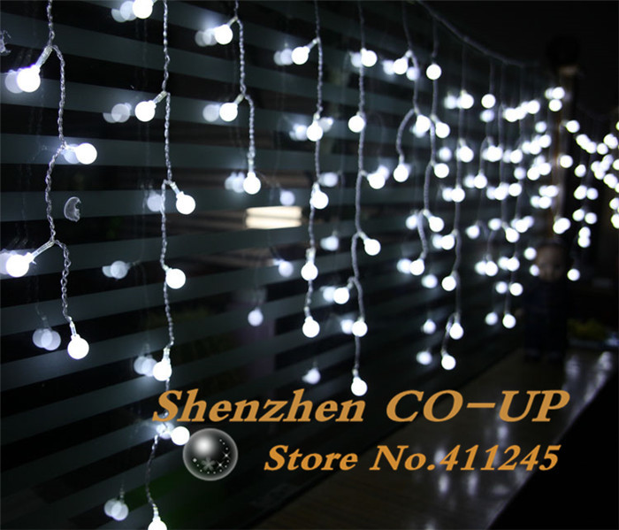 Led curtian light Cherry ball curtain light 4M 140leds AC220V Indoor home decoration light fairy light christmas<br><br>Aliexpress