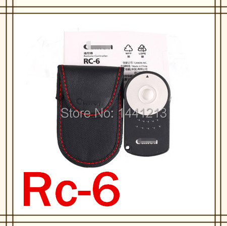 RC-6 RC6 Wireless IR Remote Control For 5D II/7D/550D,60D 600D Free Shipping + tracking No. + Wholesale Price + retail packing(China (Mainland))