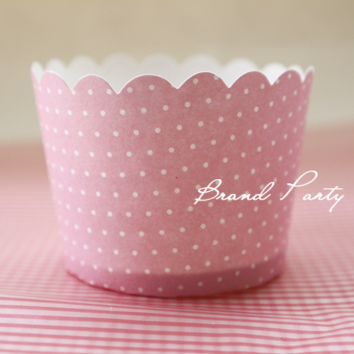Cupcake Wrappers Muffin Baking Cups Cake Wrapper Cupcake Liners Little White Dots Pink High Temperature Greaseproof Paper(China (Mainland))