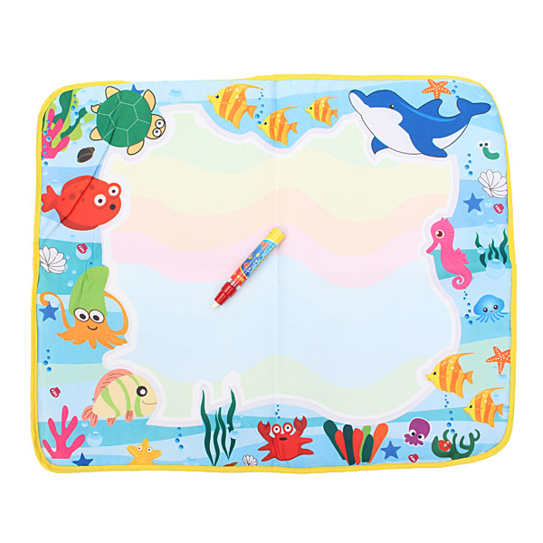 Hot 60x49cm Baby Play Toys Water Drawing Painting Toys Mat+1 Pen Water Drawing Board Kids Drawing Aqua Doodle Water Mat Tablet(China (Mainland))