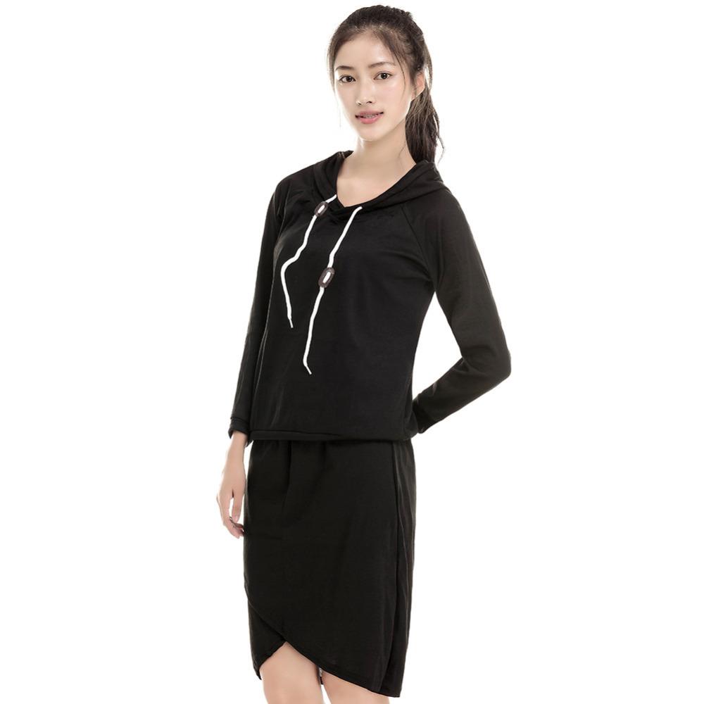 Popular Women Sport Suit Casual Tracksuits 2pcs/set Cotton Hoodies Irregular Skirts Long-sleeve Sweatshirt Female Clothing Sets(China (Mainland))